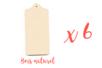 Planchette en bois naturel 20 x 10 cm - Lot de 6 - Cuisine et vaisselle - 10doigts.fr