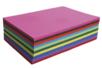 Cartes légères - dim : 32.5 x 50 cm, 60 feuilles (10 couleurs  assorties) - Papiers Unis 01721 - 10doigts.fr