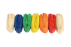 Bottes Raphia 50 gr  : Jaune, orange, rouge, bleu, vert , naturel (x2) - 7 bottes - Paille et Raphia 10224 - 10doigts.fr