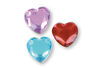 Minis strass cœurs adhésifs couleurs assorties - 72 pièces - Stickers strass, cabochons 19212 - 10doigts.fr