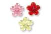 Minis strass fleurs adhésifs couleurs assorties - 72 strass - Stickers strass, cabochons 19220 - 10doigts.fr
