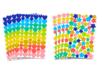 Gommettes étoiles et cœurs, couleurs tendances - 8 planches - Stickers, gommettes coeurs - 10doigts.fr