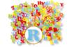Lettres en feutrine adhésive - 1 set (80 stickers) - Formes en Feutrine Autocollante - 10doigts.fr