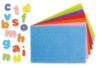 Lettres adhésives en caoutchouc, couleurs assorties - 950 pièces - Gommettes Alphabet, messages 13774 - 10doigts.fr