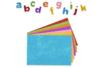 Lettres adhésives pailletées en caoutchouc, couleurs assorties - 950 pièces - Gommettes Alphabet, messages - 10doigts.fr