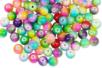 Perles arc-en-ciel en verre - 100 perles - Bijoux Shamballas 08351 - 10doigts.fr