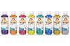Gouaches pailletées couleurs assorties - 8 flacons de 250 ml - Peinture Gouache 10 DOIGTS 12161 - 10doigts.fr