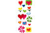 Stickers coeurs en plastique pour céramique, verre et miroirs - Stickers Fantaisies 08098 - 10doigts.fr