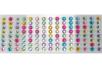 Strass adhésifs ronds 1 cm - 120 strass - Stickers strass, cabochons 28129 - 10doigts.fr
