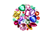 Strass assortis multicolores – 1 set (200 strass) - Strass 13340 - 10doigts.fr