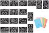 Super Pack - 16 tableaux (4 sets : transports, insectes, dinosaures, fantaisie (16 tableaux au total) - Kits activités carteries 38364 - 10doigts.fr