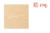 Support bois carré 18 x 18 cm (Epaisseur : 3 mm) - Supports plats 18608 - 10doigts.fr