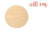 Support plat rond en bois ø 18 cm, Ep. 5 mm - Supports plats 18601 - 10doigts.fr