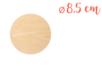 Support plat rond en bois ø 8,5 cm, Ep. 3 mm - Supports plats 18600 - 10doigts.fr