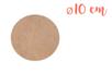 Support plat rond en Médium MDF ø 10 cm, Ep. 3 mm - Supports plats 11329 - 10doigts.fr