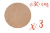 Support plat rond en Médium MDF ø 30 cm - 3 pièces - Supports plats 12134 - 10doigts.fr