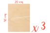 Support bois rectangulaire 40 x 20 cm (Epaisseur : 5 mm) - Lot de 3 - Supports plats 18618 - 10doigts.fr