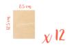 Support bois rectangulaire 12,5 x 8,5 cm (Epaisseur : 3 mm) - Lot de 12 - Supports plats 08379 - 10doigts.fr