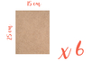 Support rectangle MDF 25 x 15 cm (Epaisseur : 3 mm) - Lot de 6 - Supports pour mosaïques 05603 - 10doigts.fr