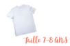 T-shirt 7 - 8 ans - Coton, lin 04981 - 10doigts.fr