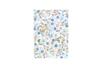 Tissu adhésif fleuri bleu et rose - 1 feuille - Tissus adhésifs - 10doigts.fr