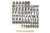 Transfert Textile – 2 planches alphabet + chiffres noir - Transferts et Thermocollants 40032 - 10doigts.fr