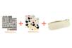 Transferts textiles coeurs & Alphabets (4 planches) + CADEAU : 1 trousse offerte - Transferts et Thermocollants 40033 - 10doigts.fr
