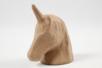Trophée licorne en papier mâché 18,5 cm - Animaux en papier mâché - 10doigts.fr