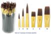 Tubo de 72 pinceaux et brosses assortis, à poils synthétiques - Matériels pour collectivités 10308 - 10doigts.fr