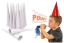 Trompettes blanches à décorer - Lot de 12 - Mardi gras, carnaval - 10doigts.fr