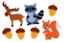 Stickers Animaux de la fôret en feutrine - Formes en Feutrine Autocollante - 10doigts.fr
