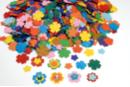 Fleurs en papier carte légère - 3000 pièces - Fleurs et feuilles - 10doigts.fr