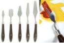 Couteaux-spatules métalliques - 5 formes assorties - Spatules - 10doigts.fr