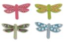Libellules en bois décoré - Set de 8 - Motifs peints - 10doigts.fr
