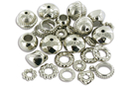 Perles et charm's en plastique métallisé argenté - Perles intercalaires - 10doigts.fr