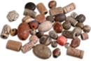 Perles artisanales Troja en céramique - 40 perles - Pierres semi précieuses et minérales - 10doigts.fr