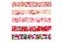 Biais coton Liberty rouge - Set de 5 - Rubans et cordons - 10doigts.fr