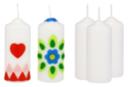 Bougies blanches - Lot de 12 - Cires, gel  et bougies - 10doigts.fr
