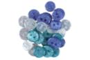 Boutons pailletés camaïeu bleu - Set de 36 - Boutons - 10doigts.fr