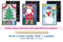 """Cartes à gratter """"Noël"""" - 3 cartes - Cartes à gratter - 10doigts.fr"""