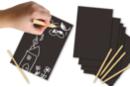 Cartes à gratter Noir & blanc - 5 cartes - Cartes à gratter - 10doigts.fr
