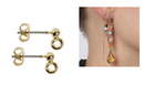 Clous dorés pour bijoux d'oreilles - Lot de 10 - Boucles et pendentifs d'oreilles - 10doigts.fr