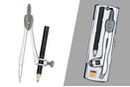 Compas en acier + crayon - Gomme, Taille-crayon, règle... - 10doigts.fr
