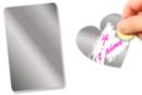 Feuille de film à gratter adhésive - 20 x 15 cm - Feuilles en plastique - 10doigts.fr