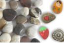 Galets naturels polis - Set d'environ 12 galets - Galets et coquillages - 10doigts.fr