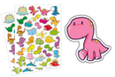 Gommettes dinosaures - 2 planches - Gommettes Animaux - 10doigts.fr