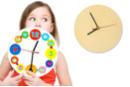 Horloge ronde en bois - Horloges en bois - 10doigts.fr