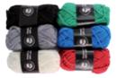 Pelotes de fil à tricoter, couleurs classiques - Set de 6 - Laine - 10doigts.fr