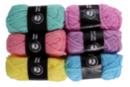 Pelotes de fil à tricoter, couleurs pastel - Set de 6 - Tricot, Laine - 10doigts.fr