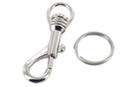 Mousquetons argentés + anneaux brisés - Lot de 2 - Porte-clés pour bijoux - 10doigts.fr